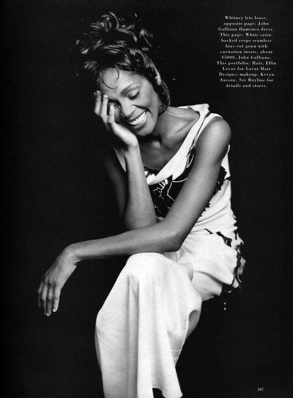 Whitney Houston Harper's Bazaar 1996