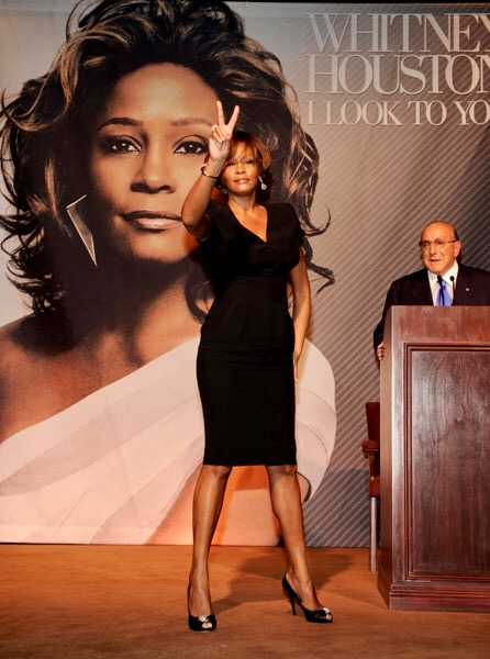 Whitney Houston I Look To You listening party Los Angeles July 23, 2009