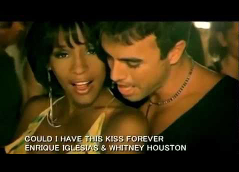 Whitney Houston and Enrique Iglesias Could I Have This Kiss Forever music video