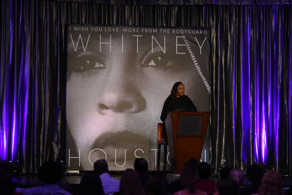 Pat Houston at Whitney Houston I Wish You Love: More From The Bodyguard listening event Miami November 4, 2017