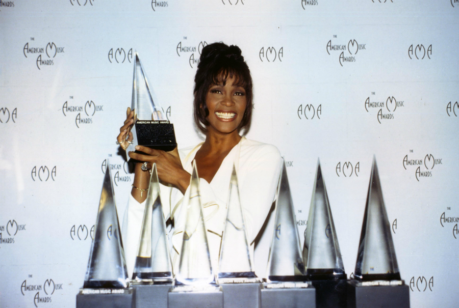 Whitney Houston At The American Music Awards