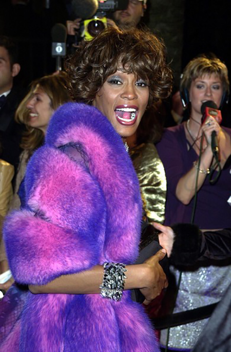 Whitney Houston attends Elton John Oscar party March 25, 2001