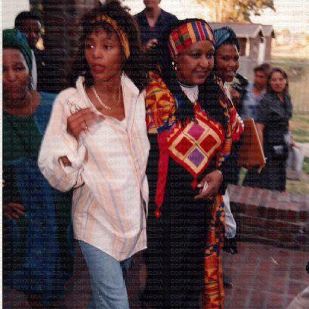 Whitney Houston and Winnie Mandela in South Africa 1994