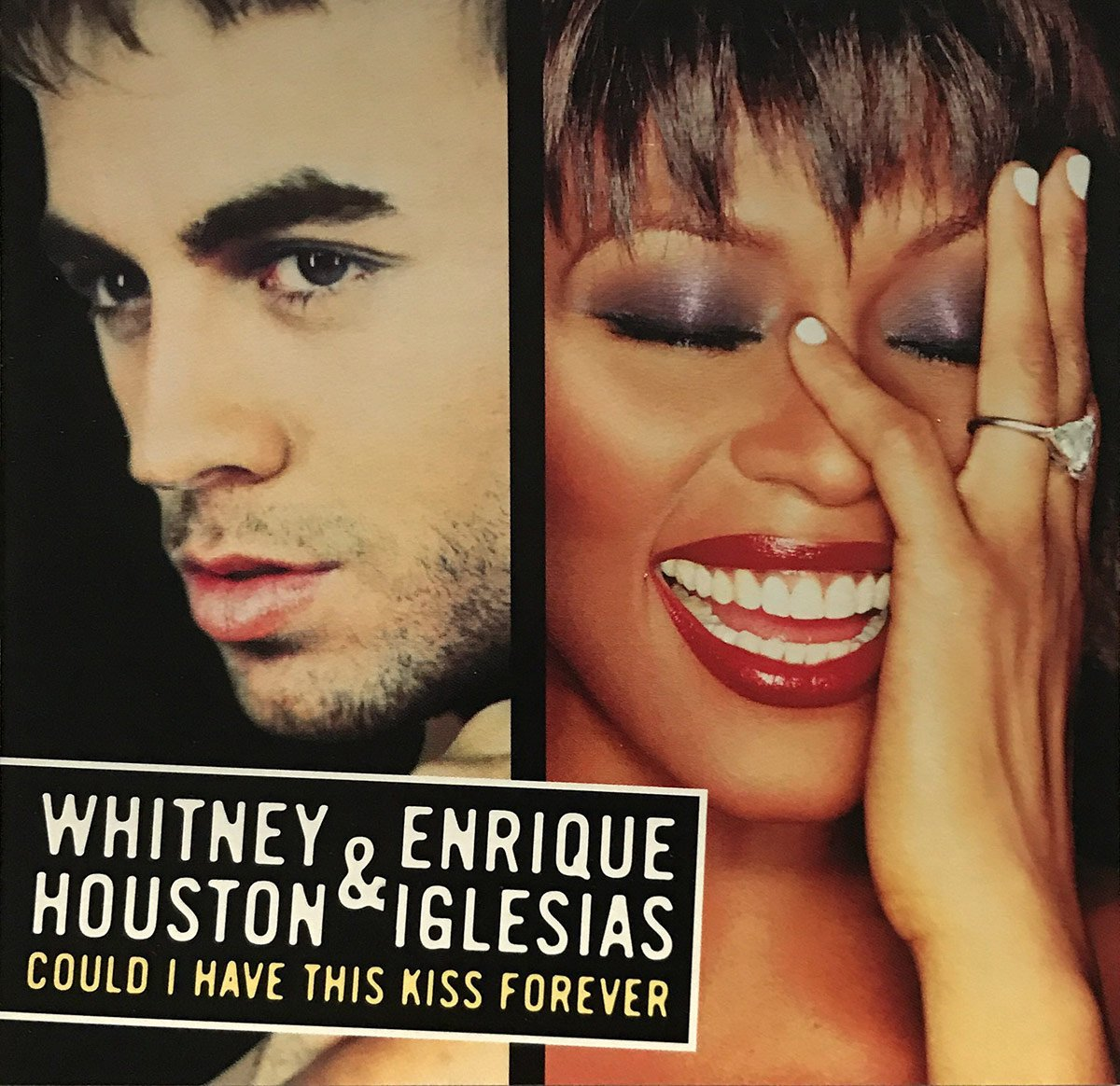 Whitney Houston and Enrique Iglesias - Could I Have This Kiss Forever single front cover