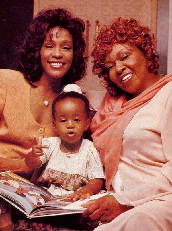Whitney Houston, Bobbi Kristina Brown and Cissy Houston