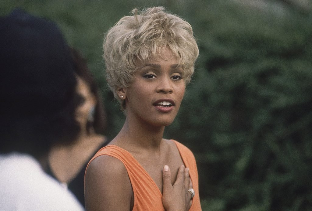 Whitney Houston My Name Is Not Susan music video shoot photo by Marc Bryan-Brown