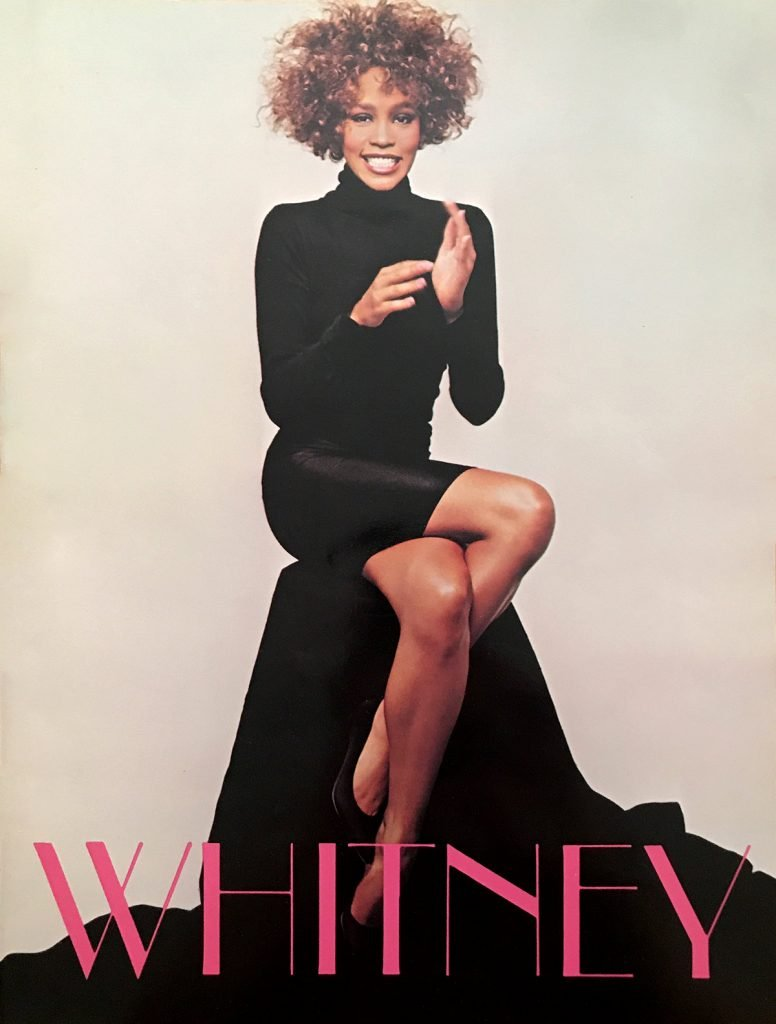Whitney Houston Greatest Love World Tour book front cover