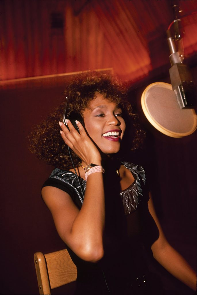 Whitney Houston in recording studio
