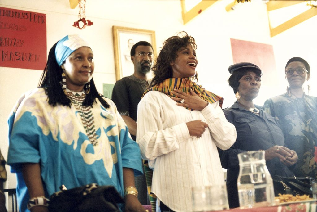 Whitney Houston with Winnie Mandela in South Africa 1994