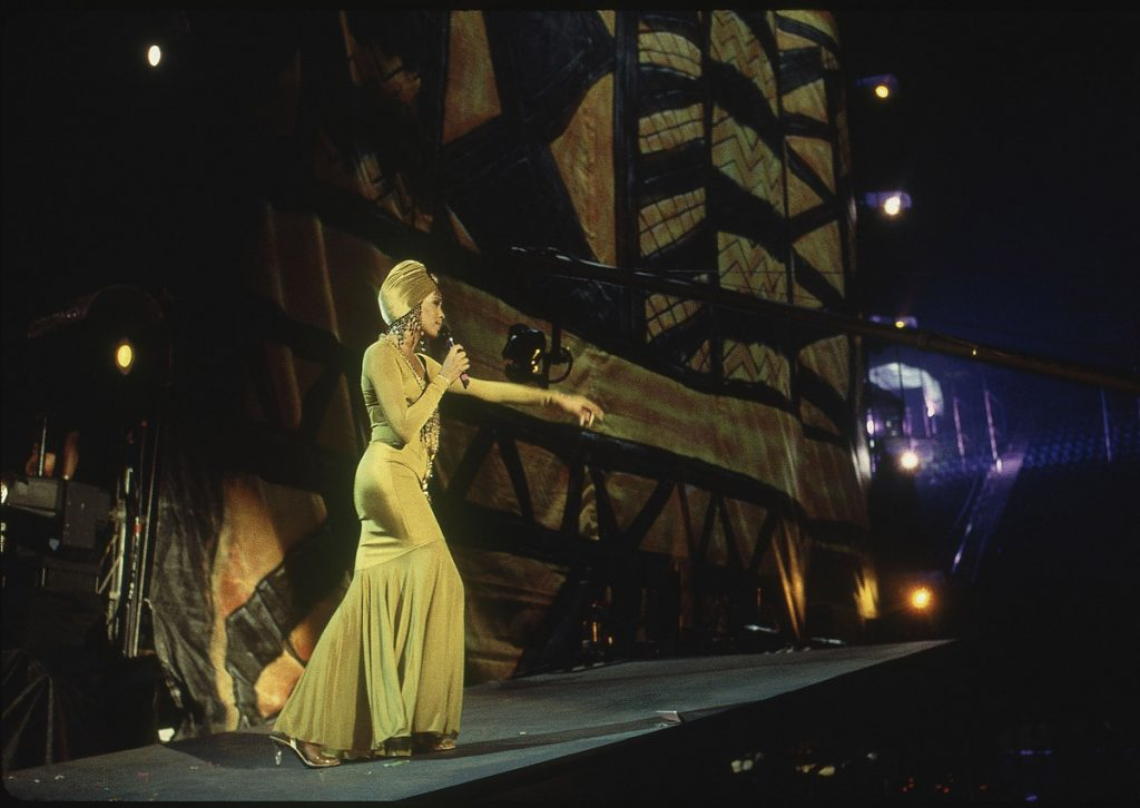 Whitney Houston performs in concert in South Africa 1994