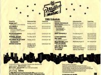 Whitney Houston at Miller Music Festival 1986 poster