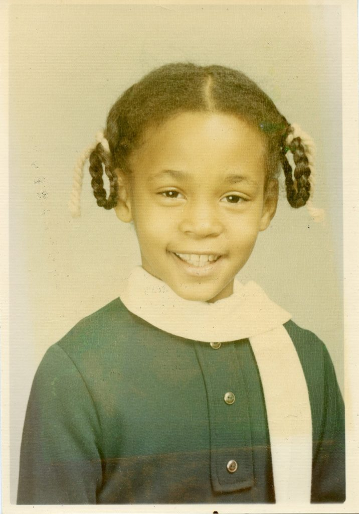 Whitney Houston at 9 years old