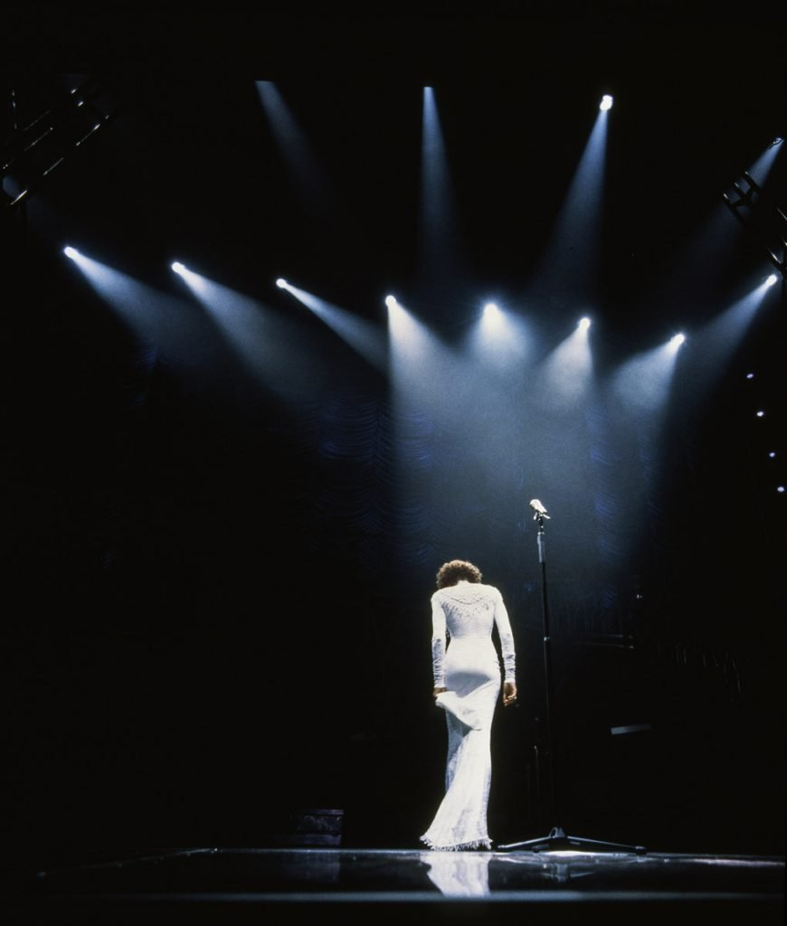 Whitney Houston performs in concert