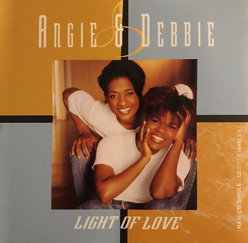 Angie & Debbie - Light Of Love single front cover