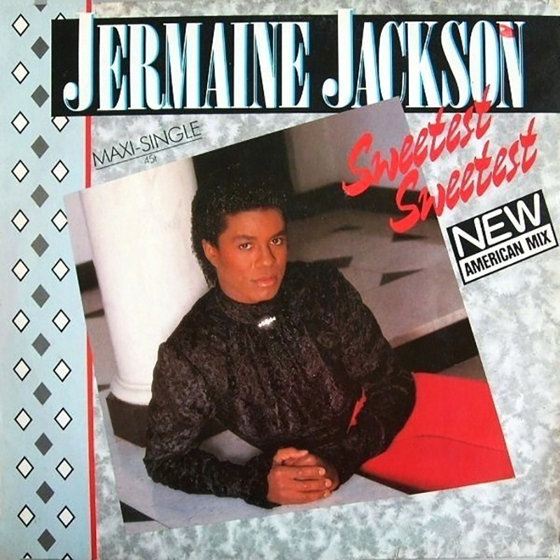 Jermaine Jackson - Sweetest Sweetest single front cover