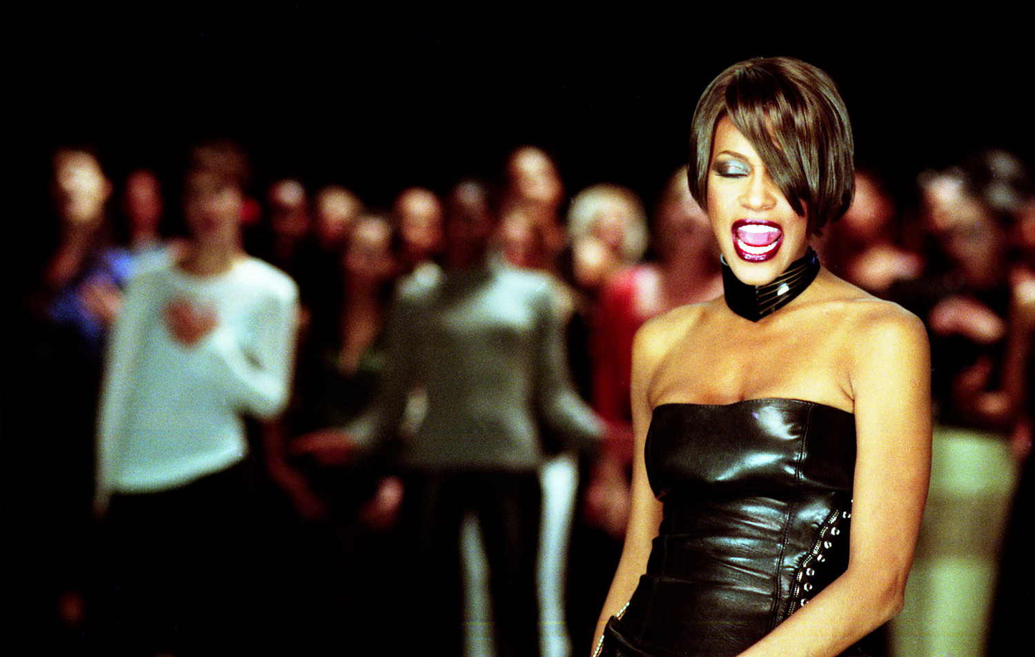 Whitney Houston It's Not Right But It's Okay video shoot photo by Marc Bryan-Brown