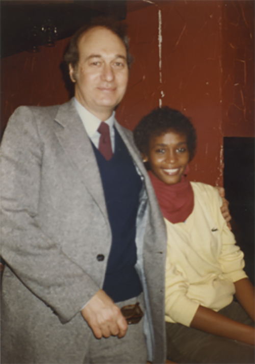 Whitney Houston and Gene Harvey her first manager