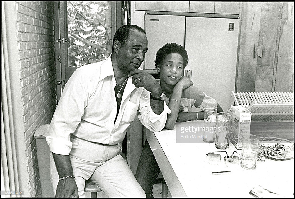 Whitney Houston and her father John Houston