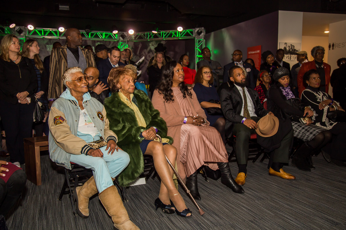 Dionne Warwick, Cissy Houston, Pat Houston and Gary Michael Houston (Whitney's nephew) at GRAMMY Museum VIP reception October 18, 2018