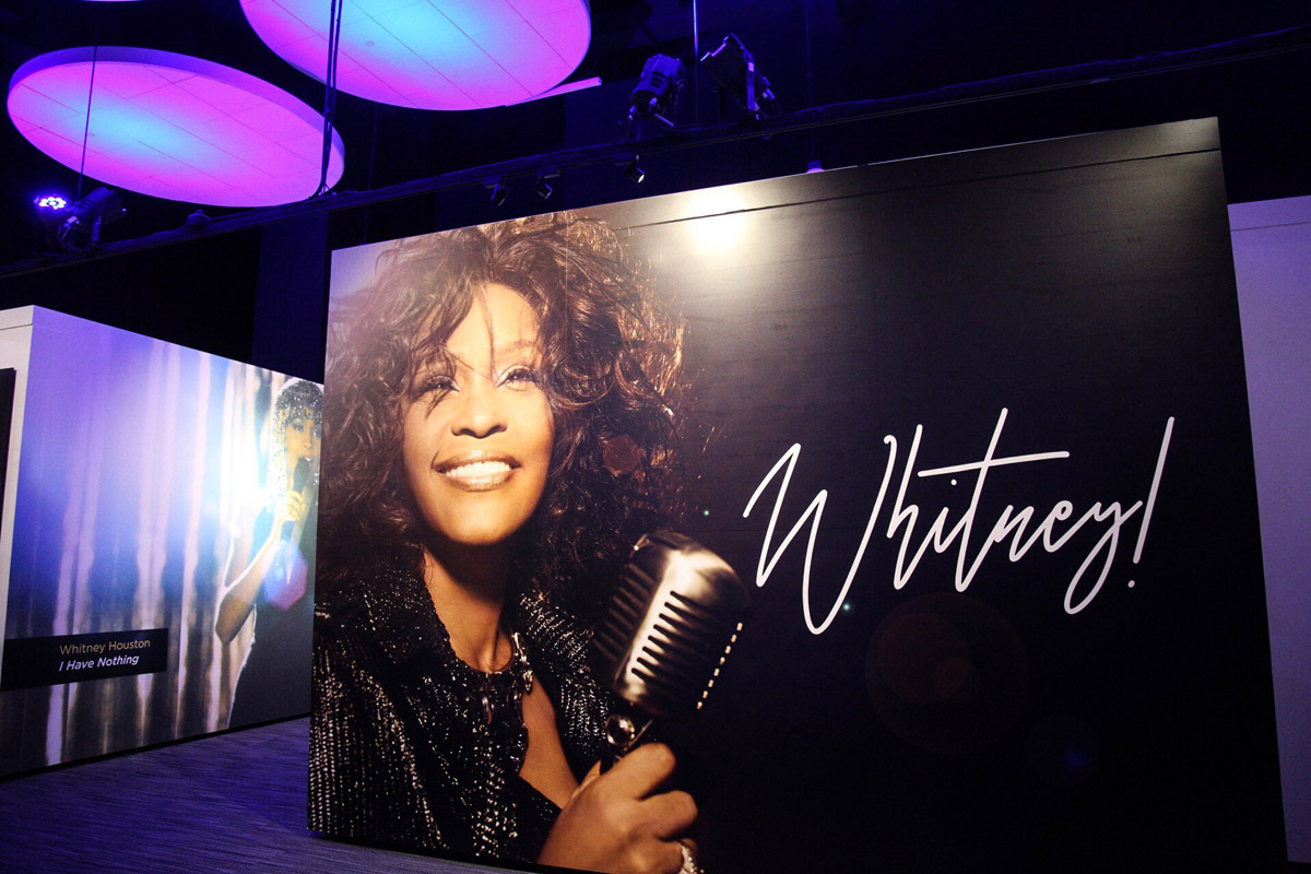 Whitney Houston exhibit at Grammy Museum in Newark, NJ press day October 17, 2018