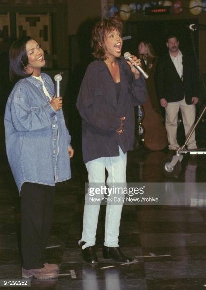 CeCe Winans and Whitney Houston
