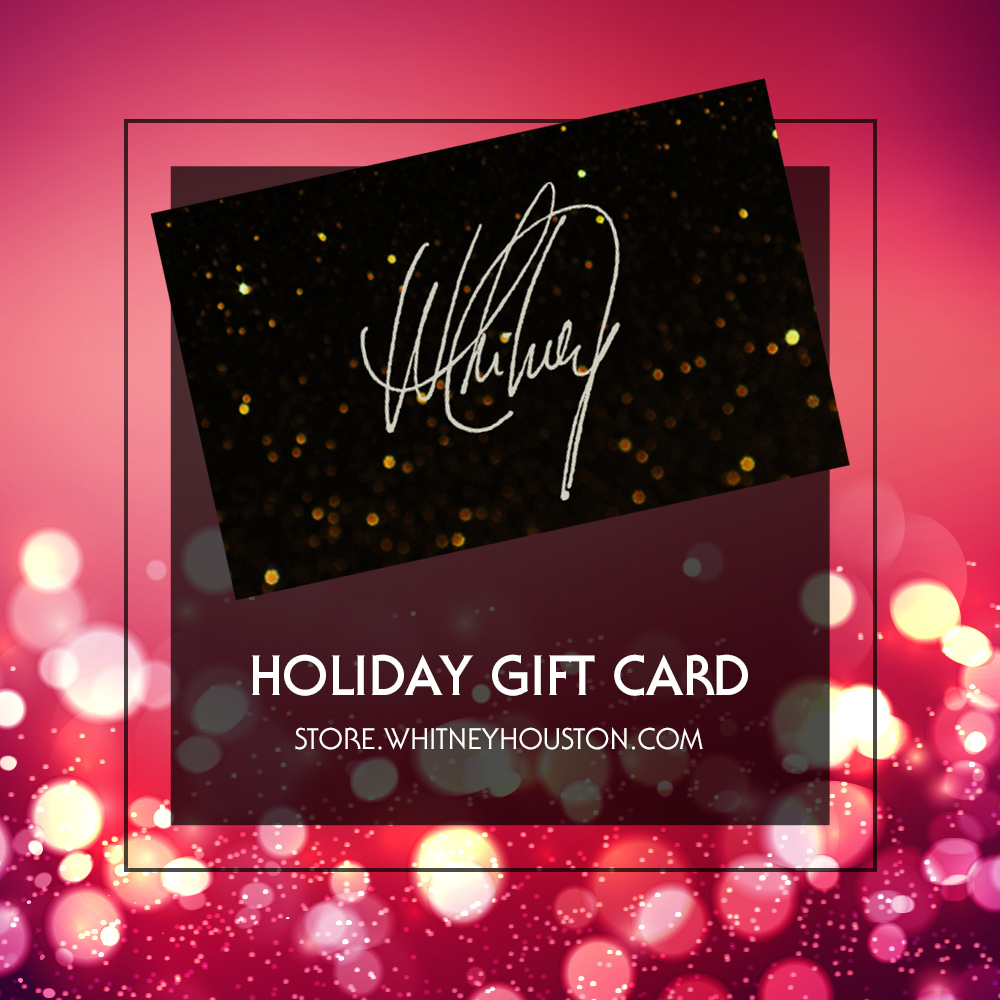 Whitney Houston holiday gift card