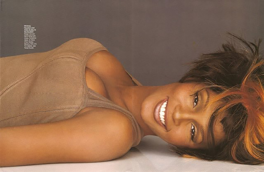 Whitney Houston in Elle Magazine 1992