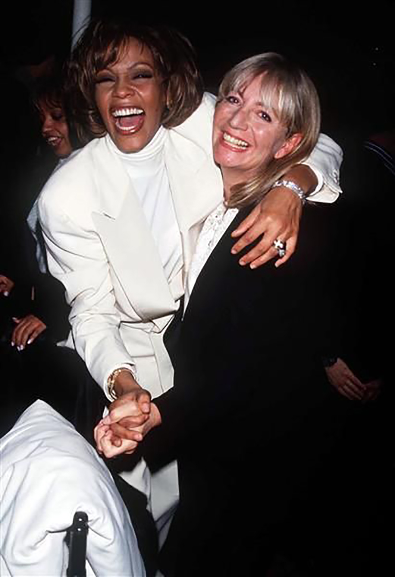 Whitney Houston and Penny Marshall