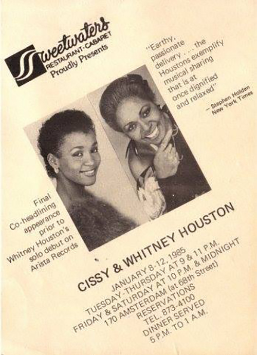 Whitney Houston and Cissy Houston final co-headlining appearance at Sweetwaters January 1985