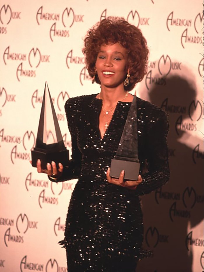 Whitney Houston wins two American Music Awards January 30, 1989