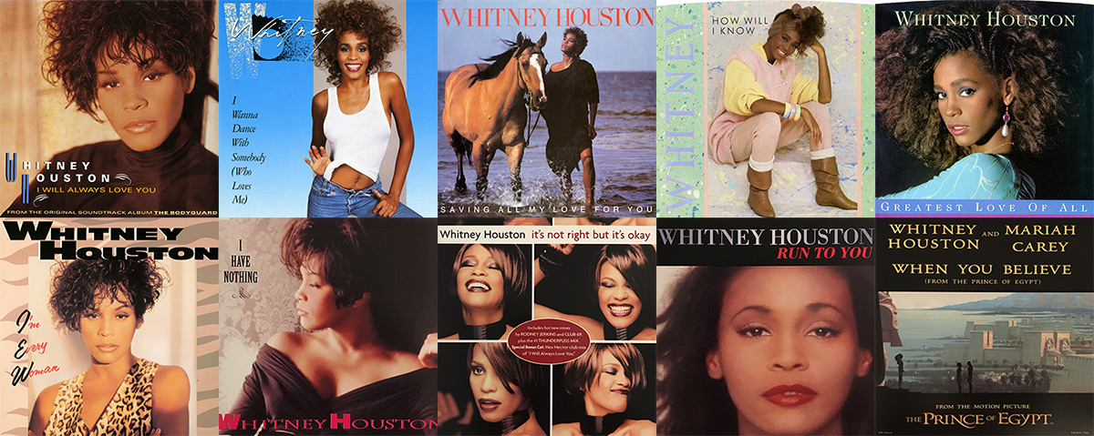 10 Whitney Houston singles certified by RIAA