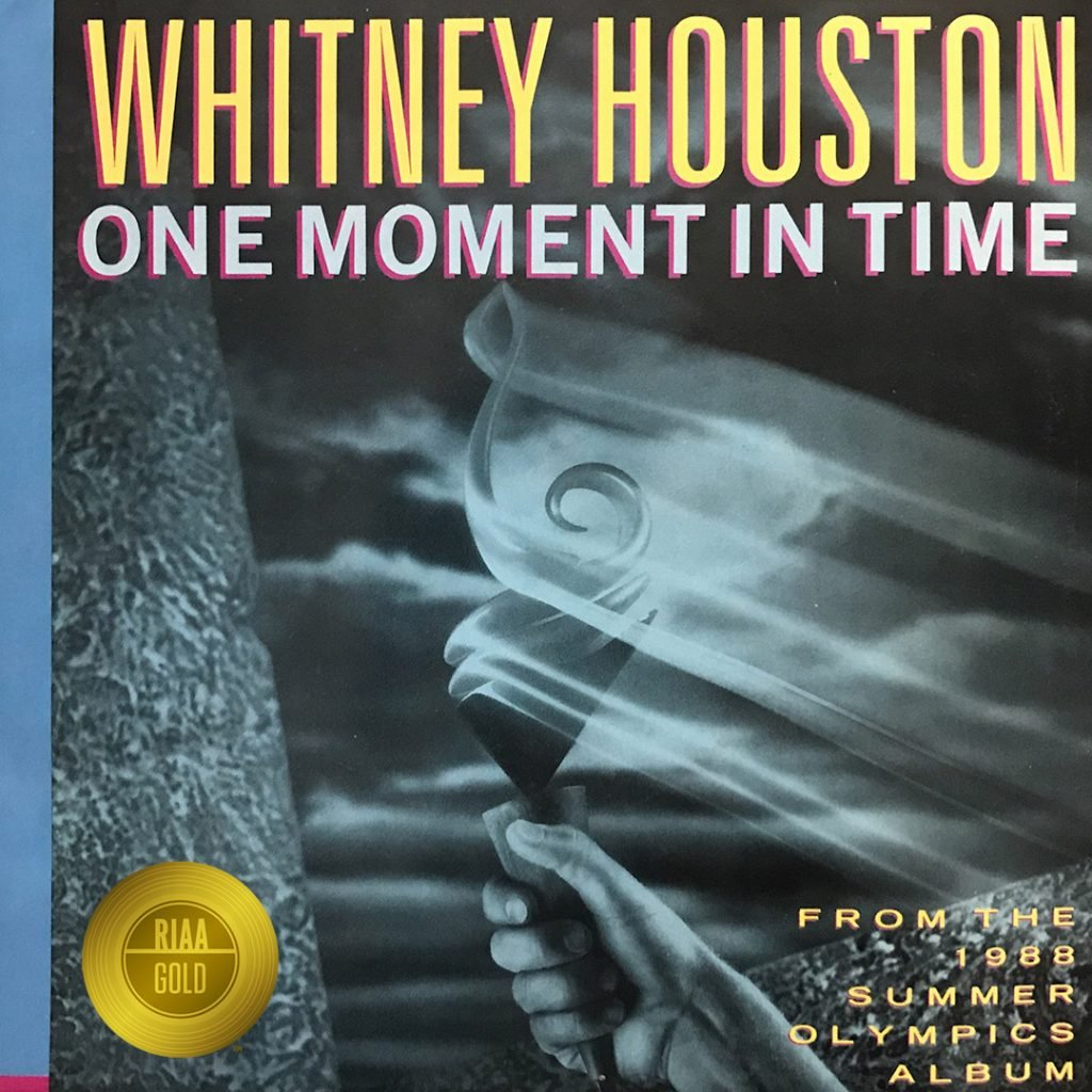 Whitney Houston One Moment In Time certified Gold March 11, 2019