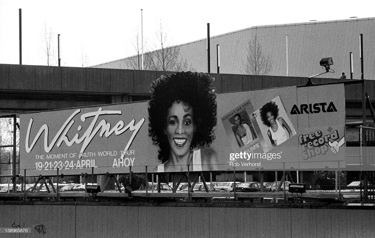 Whitney Houston Moment Of Truth World Tour billboard in Rotterdam, The Netherlands in 1988
