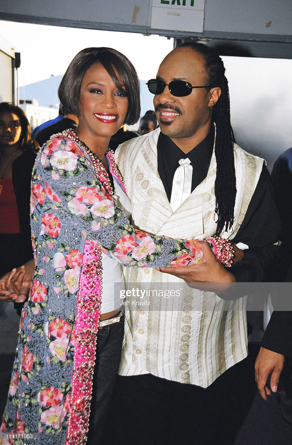 Whitney Houston and Stevie Wonder at MTV Movie Awards in 1999