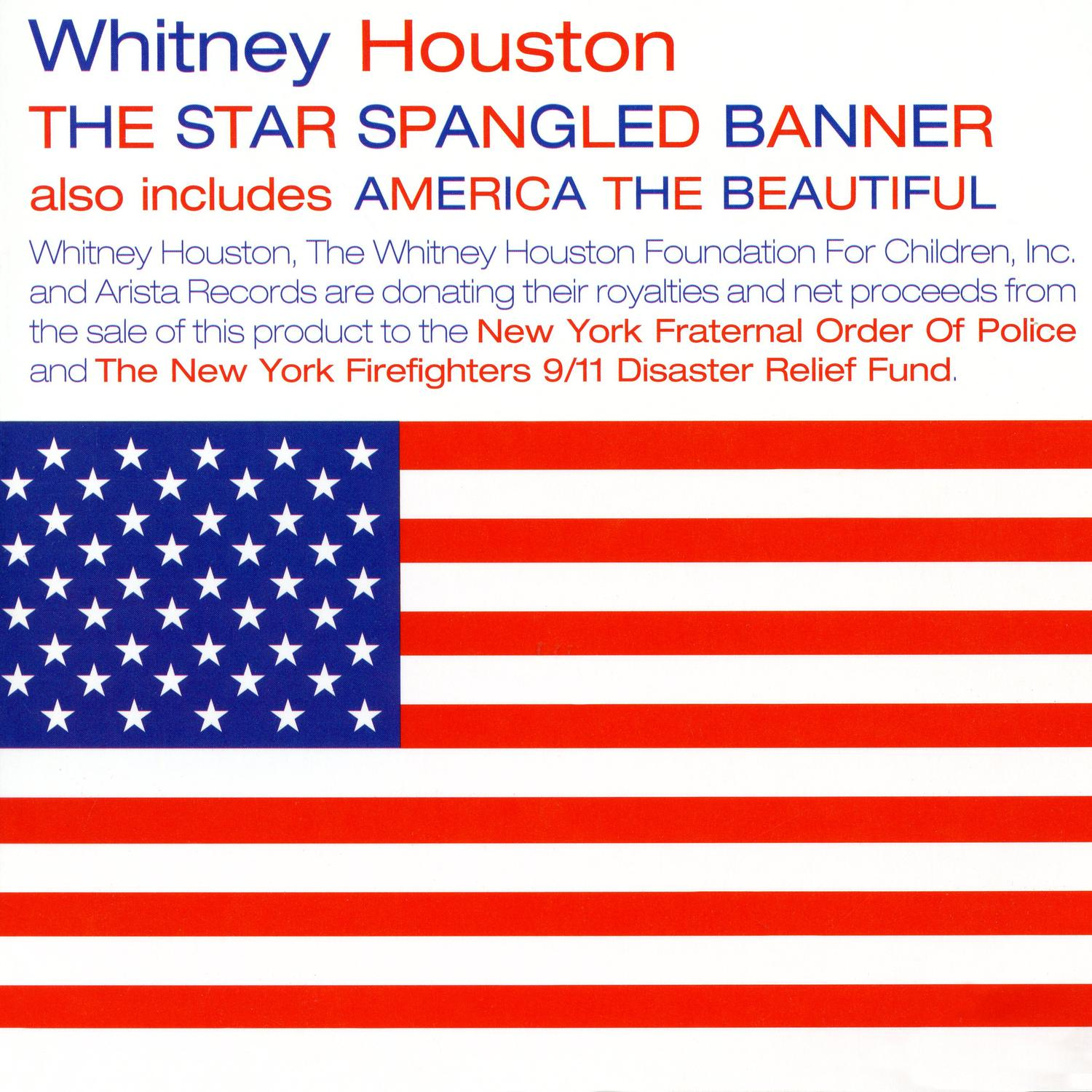 Whitney Houston - The Star Spangled Banner 2001 CD single front cover