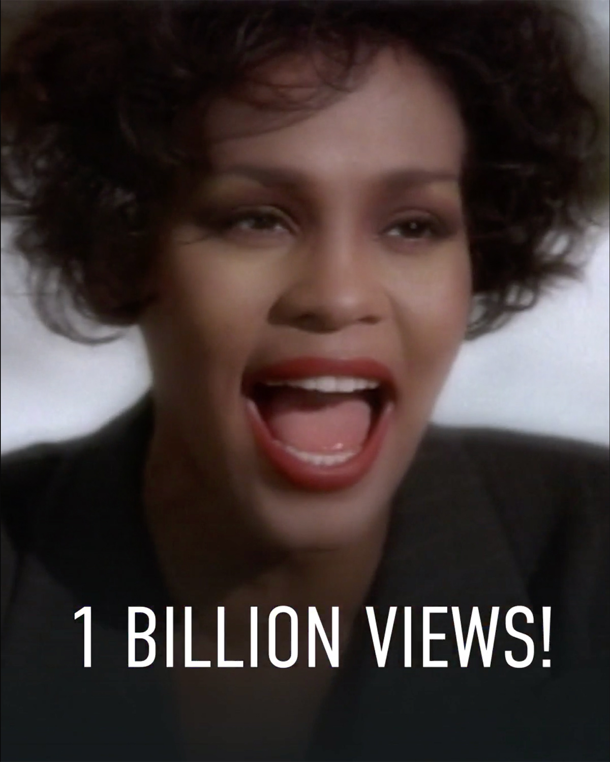 Whitney Houston - I Will Always Love You 1 billion views on YouTube