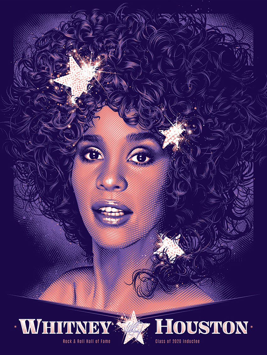 Whitney Houston limited edition art