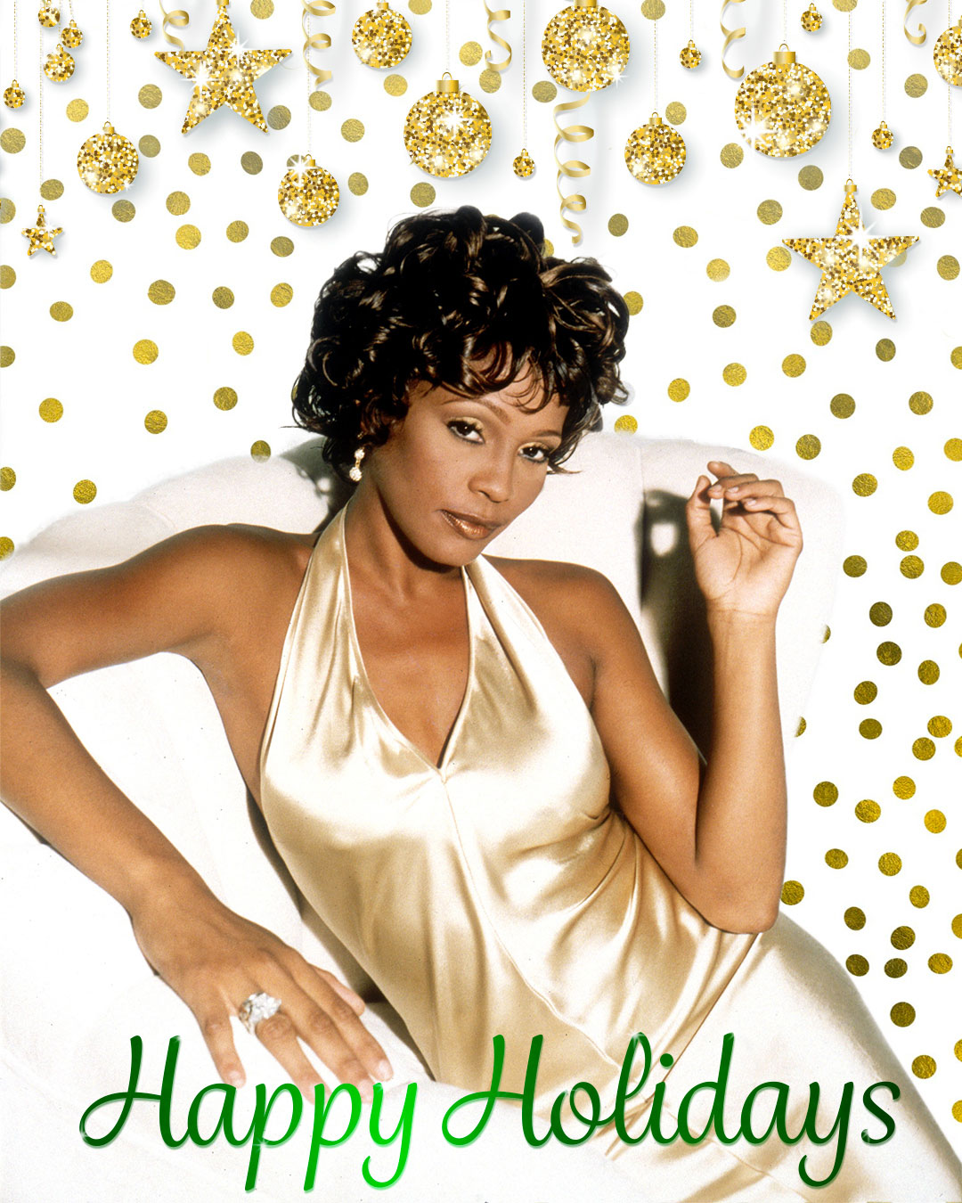 Whitney Houston happy holidays