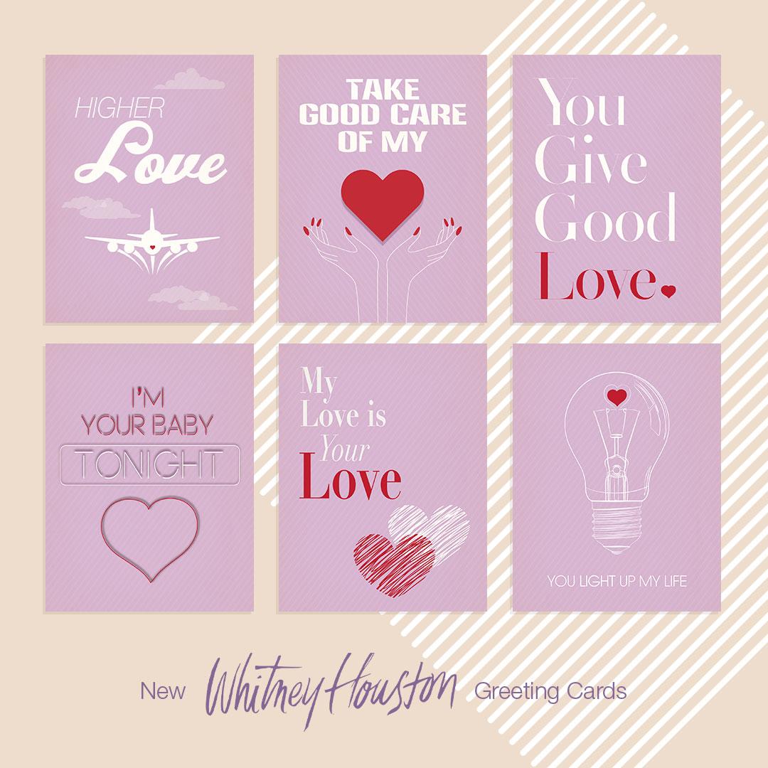 Whitney Houston greeting cards