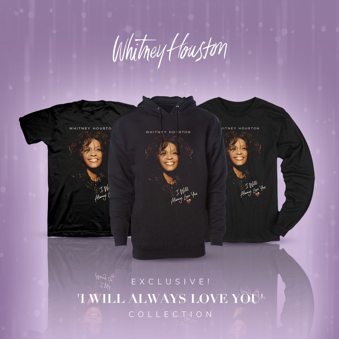Whitney Houston limited edition I Will Always Love You merch collection
