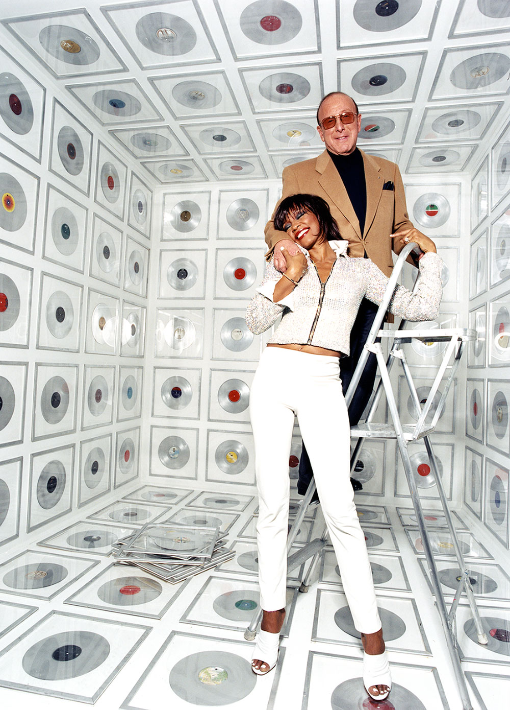 Whitney Houston and Clive Davis photo by David LaChapelle