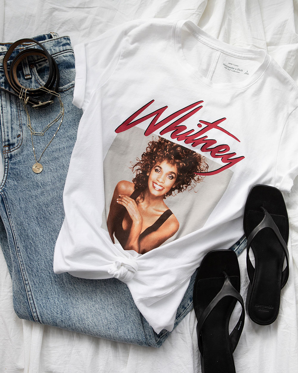 Whitney Houston Abercrombie & Fitch tee shirt