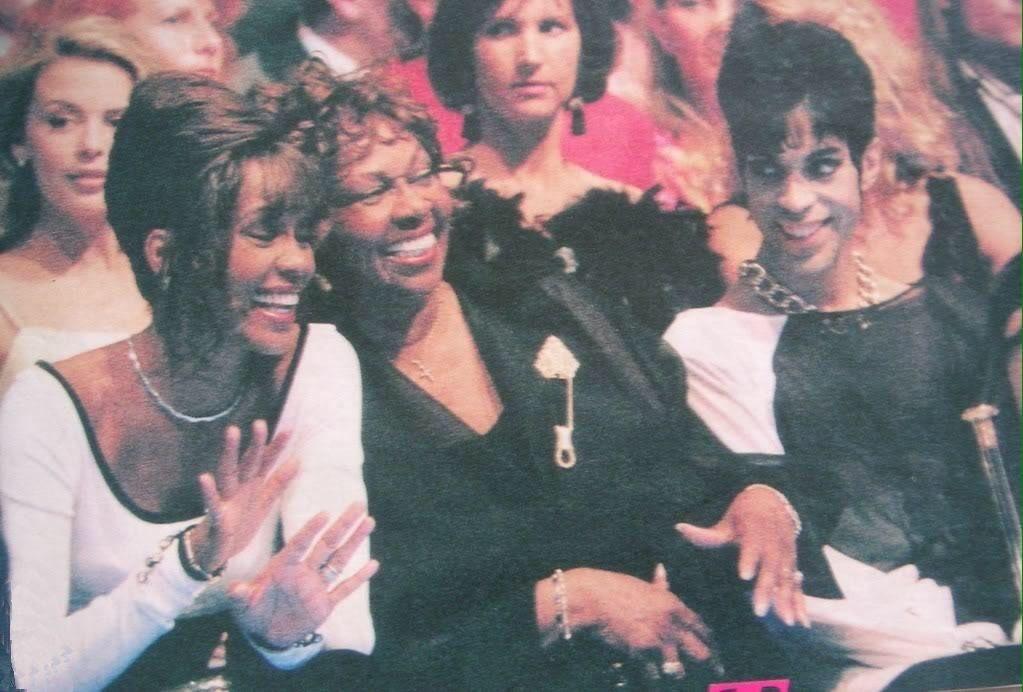 Whitney Houston, Cissy Houston and Prince at 1994 World Music Awards