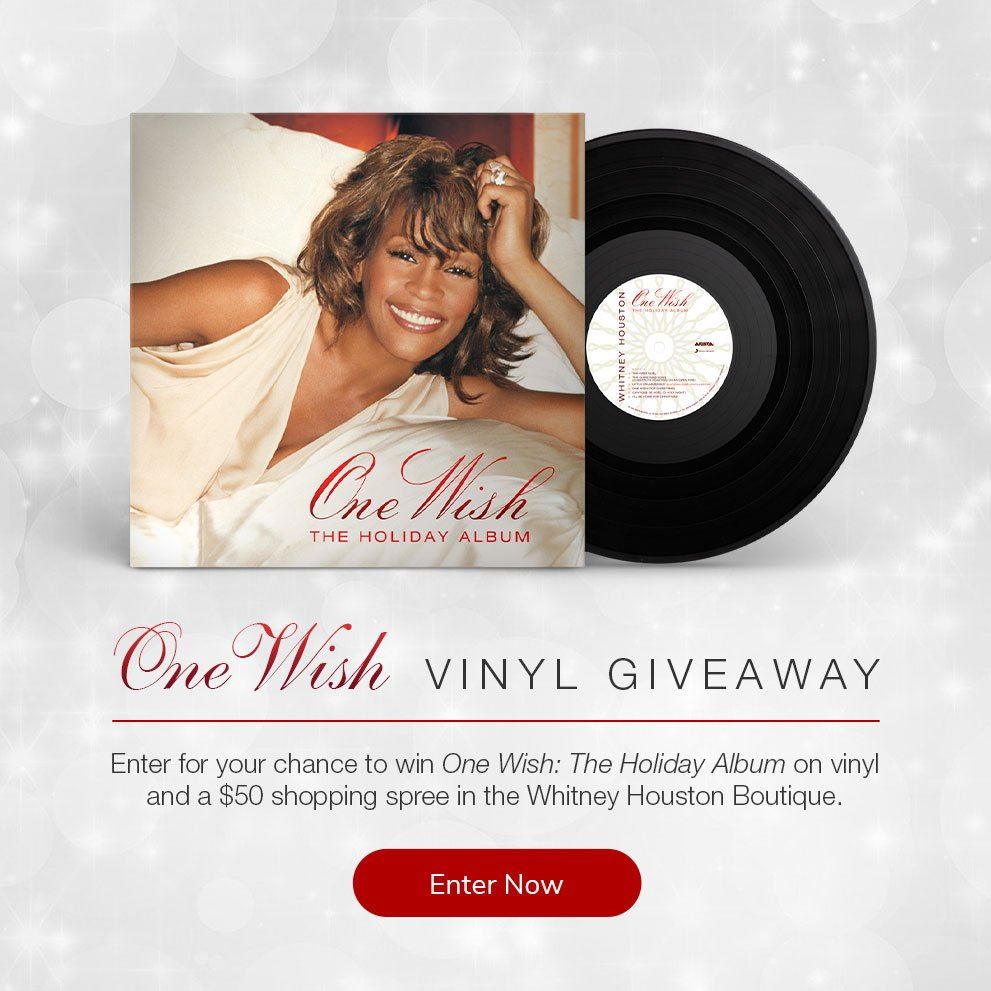 Whitney Houston 'One Wish' vinyl giveaway