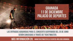 Melendi anuncia un concierto especial en Granada