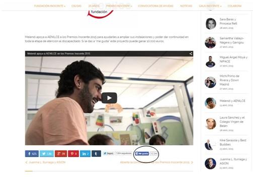Melendi apoya a la Fundación para la Atención y Educación de Niños con Lesión Cerebral, AENILCE, en los Premios Inocente 2015