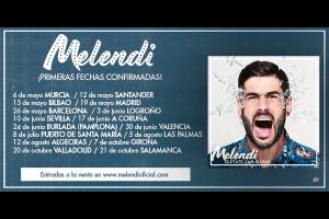 ¡Confirmadas las primeras fechas de la gira Quítate las Gafas de Melendi!