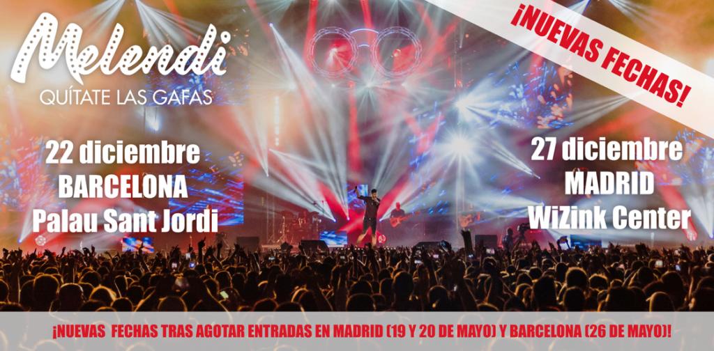 Melendi anuncia 2 nuevas fechas en Madrid y Barcelona