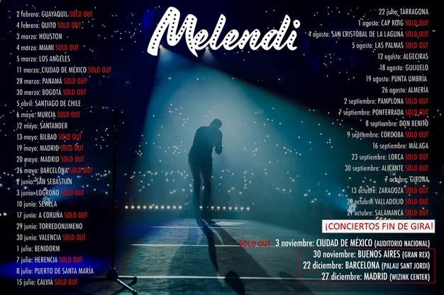 Melendi llega a la recta final de su gira agotando las entradas de su concierto en el Auditorio Nacional de México