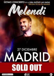 Melendi cierra la gira Quítate las gafas en Madrid